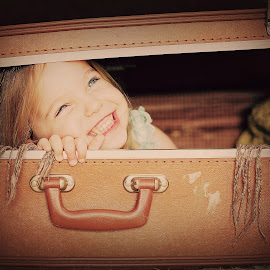 Hiding in my suitcase by Lucia STA - Babies & Children Child Portraits
