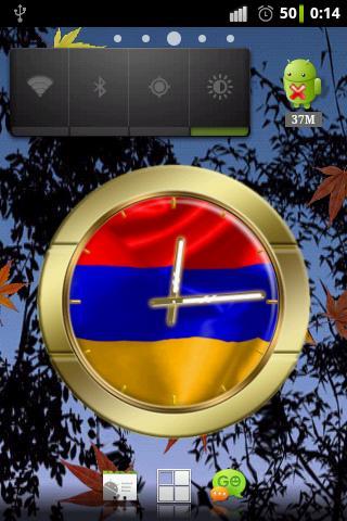 Armenia flag clocks