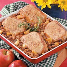 Bean and Pork Chop Bake