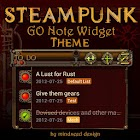 Steampunk GO Note Widget Theme icon