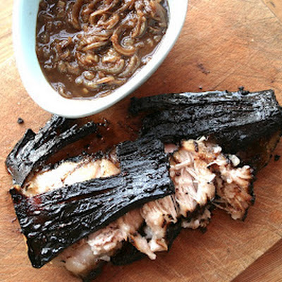 Chocolate Roast Pork Belly With A Caramelised Onion And Cocoa Gravy