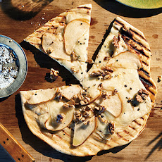 Grilled Pizza with Pears, Fresh Pecorino, and Walnuts