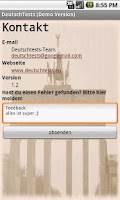 Screenshot of DeutschTests (GermanTests)