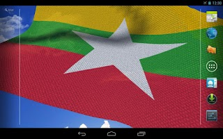 Screenshot of 3D Myanmar Flag Live Wallpaper