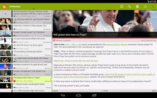 Screenshot of RSS Junkie (RSS Reader)