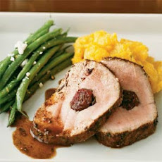 Pork Loin Stuffed with Cranberries and Rosemary