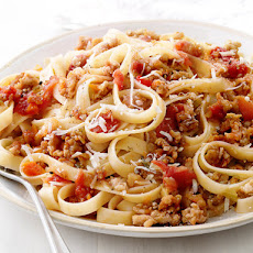 Fettuccine With Quick Ragu
