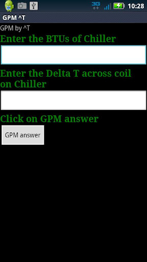 GPM ^T for Chillers