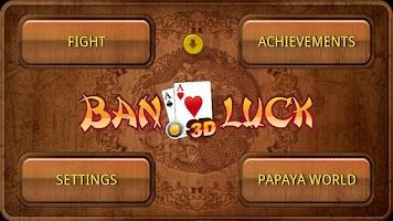 Screenshot of Ban Luck 3D Chinese blackjack