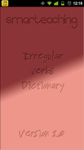 Irregular Verbs Dictionary