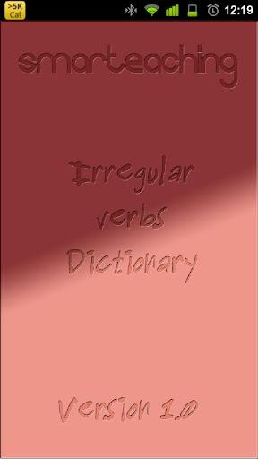 Irregular Verbs Dictionary