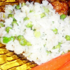 Lemon Rice w/ Peas & Green Onions