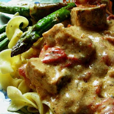 Hot Salami Chicken Stroganoff