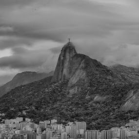 Sao Paulo, Brazil Christ the Redeemer by Neal Kulick - Black & White Landscapes ( rio de janiero, christ the redeember )