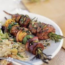 Lamb Brochettes with Mint Gremolata