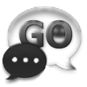GoSMS Pro Theme Gunmetal Glass icon