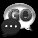 GoSMS Pro Theme Gunmetal Glass