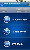 Screenshot of Sensor Mouse