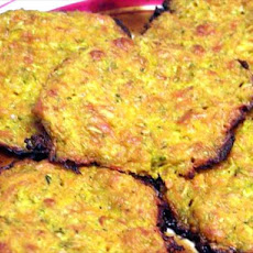 Cheesy Baked Zucchini, Sweet Potato Patties