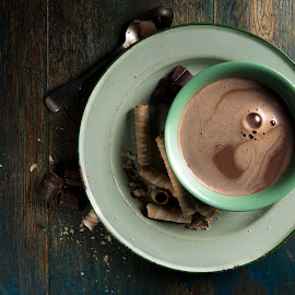 a warm chocolate drink by Darryll Jones - Food & Drink Alcohol & Drinks ( cup, chocolate, saucer, hotchocolate, drink, hot )