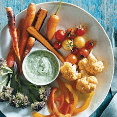 Fall Crudites with Green Goddess Dressing