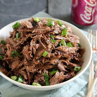 Slow cooker cherry Coke beef carnitas