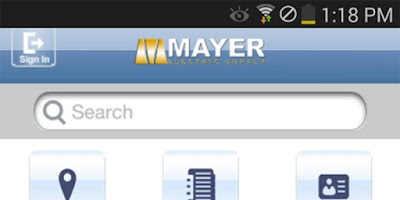 Screenshot of Mayer Electric