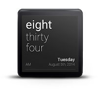 Screenshot of TextFace for Android Wear