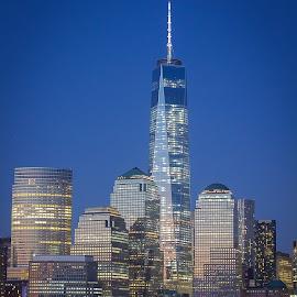 Freedom Tower by Anthony Cuffari - City,  Street & Park  Skylines ( freedom tower nyc newyork newyorkcity skyline,  )