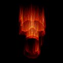 Live Wallpaper - Flaming Skull icon