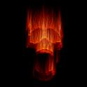 Live Wallpaper - Flaming Skull