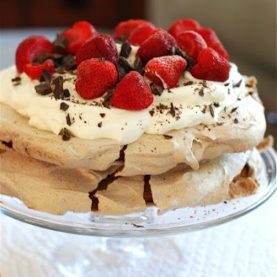 Double Chocolate Strawberry Pavlova