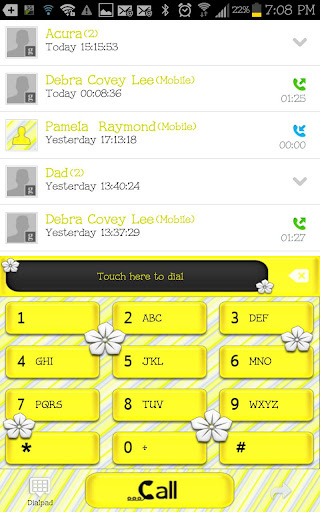 GO CONTACTS - Lemon Flower
