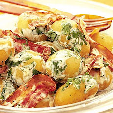 New Potato, Watercress & Bacon Salad With Soured Cream Dressing