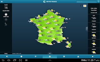 Screenshot of Météo-France