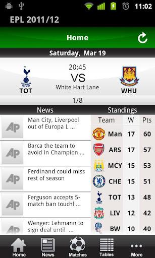 English Premier League 2011 12