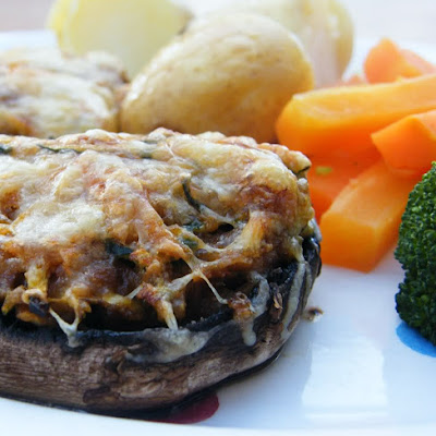 Carrot & Courgette Stuffed Mushrooms