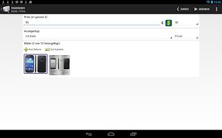 Screenshot of 1-Klick Kleinanzeigen