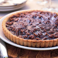 Chocolate, Caramel, and Walnut Tart