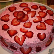Strawberry Bundt Cake With Lemon Glaze Drizzle (Uses Cake Mix)