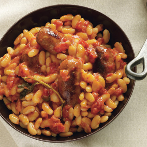 Sausages with White Beans in Tomato Sauce