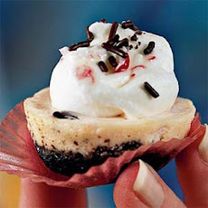 Mini Peppermint and Chocolate Chip Cheesecakes