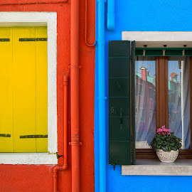 Homes on Island Burano, Venice, Italy by Klemen R. - Buildings & Architecture Homes