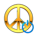 Screen Off & Lock Peace Mark icon