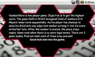 Screenshot of Number Wars