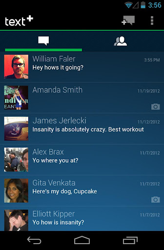 textplus-int-l-free-messaging for android screenshot