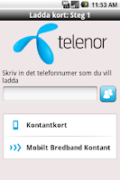 Screenshot of Telenor Ladda