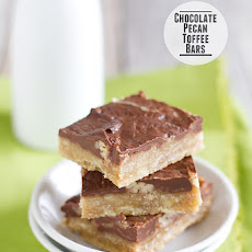 Chocolate Pecan Toffee Bars