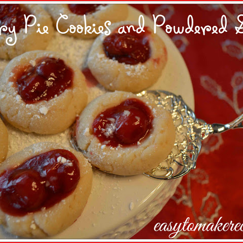 Cherry Pie Cookies with Powdered Snow