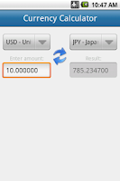 Screenshot of Currency Calculator